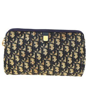 Christian Dior Trotter Pattern Pouch Bag Canvas